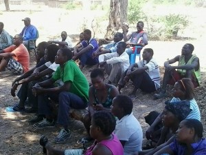 """CCG """"NO VOTING"""" public meeting at Sisheke and Kaliyangile on Sunday, 19 October 2014"""