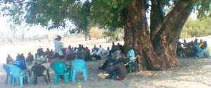 CCG – NO  VOTING IN CAPRIVI -2014  EVENT , ABOUT 100  PEOPLE PLUS  (and EVANS SIMASIKU ) ATTENDING THE MEETING  ON OCTOBER 12, 2014 @ NAMPENGU.